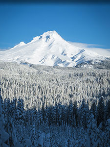 Mt Hood in winter